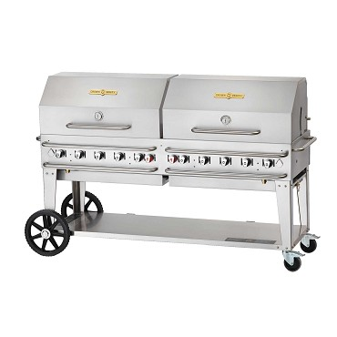 "Crown Verity CV-RCB-72RDP-LP Inc. - Rental Grill, LP gas, 81"" L x 28"" D"