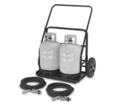 Crown Verity CV-RPS-486072 - Remote propane cart, comes with securing chains & two 25' hose and regulators