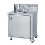 Crown Verity CV-PHS-2 - 2 Compartment Portable Hand Sink w/Water Heater