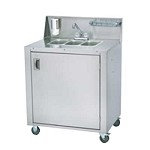 Crown Verity CV-PHS-3 - 3 Compartment Portable Hand Sink w/Water Heater