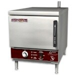 Crown Steam EPXN-3 - Convection Steamer, electric, countertop, boilerless, (3) pan capacity