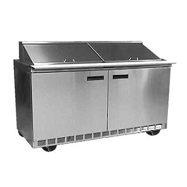 "Delfield D4464NP-8 - Sandwich/Salad Prep Table, two-section, 64"" W, 21.60 cu.ft., (4) drawers, (8) 1/6 size pans"