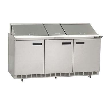 "Delfield D4472NP-24M - Mega Top Prep Table, three-section, 72"" W, 24.80 cu.ft., (6) drawers, (24) 1/6 size pans"