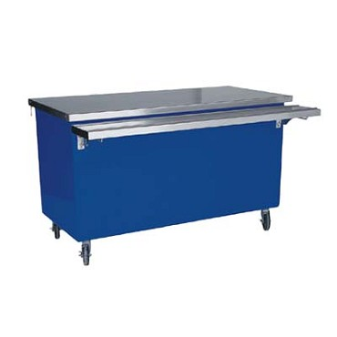 "Delfield KC-74 - Solid Top Serving Counter, 74"" long, storage base"