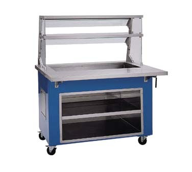 "Delfield KCI-50 - Cold Food Bar, 50"" L, 3-pan iced pan, 39"" x 21.62"" x 6""D, storage base"