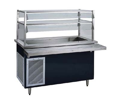 "Delfield KCSC-74-BP - Cold Food Bar, 74"" L, 65"" x 21.62"" x 7"" deep pan, drain with valve, enclosed base"
