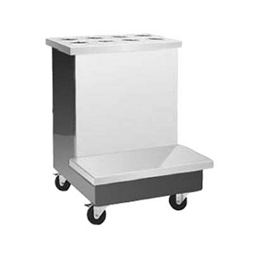 "Delfield KCTS-28 - Tray/Silverware Stand, 28"" x 30"" , stainless steel top, 5"" casters"