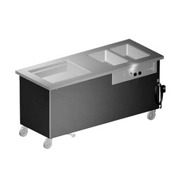 "Delfield KH2C-74-NU - Hot/Cold Serving Counter, 74"" L, (2) hot wells, ice cooled 26"" x 21.62"""