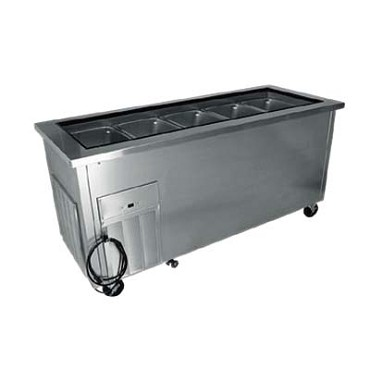 "Delfield SCSC-36-BP - Cold Food Bar, 26"" x 21.62"" x 7"" deep pan, drain with valve, enclosed base"