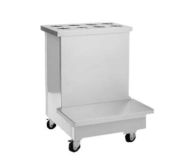 "Delfield SCTS-36 - Tray Stand, 36"" deep, mobile, stainless steel top, 5"" casters"