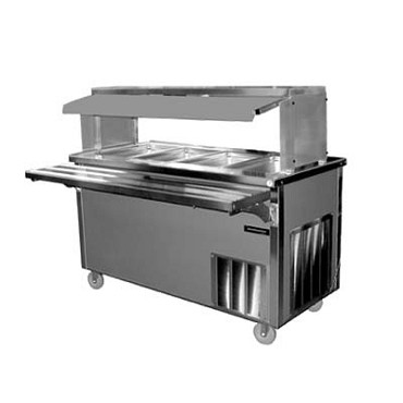 Delfield SH-4 - Hot Food Serving Counter, 4-pan capacity, heated storage base
