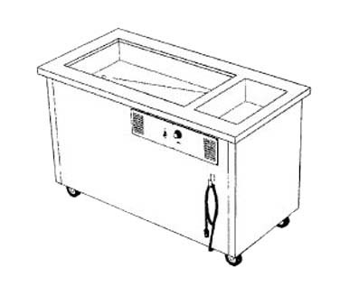 "Delfield SHC-50-NU - Hot/Cold Serving Counter, 50"" L, (1) hot wells, ice cooled 26"" x 21.62"""