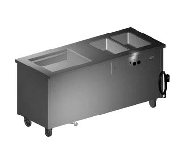 "Delfield SH2C-74-NU - Hot/Cold Serving Counter, 74"" L, (2) hot wells, ice cooled 26"" x 21.62"""