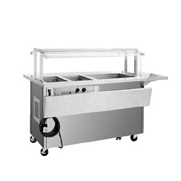 "Delfield SH3C-96-NU - Hot/Cold Serving Counter, 96"" L, (3) hot wells, ice cooled 39"" x 21.62"""