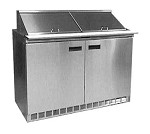Delfield D4448NP-12 - Sandwich/Salad Prep Table, two-section, 48