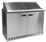 Delfield D4448NP-8 - Sandwich/Salad Prep Table, two-section, 48