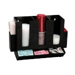 Dispense-Rite HLCO-3BT - Cup, Lid, Straw and Condiment Organizer