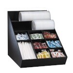 Dispense-Rite WLO-1B - Lid, Straw & Condiment Organizer