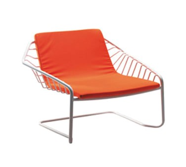 EMU 34 - Cantilever Lounge Stacking Chair, indoor/outdoor, wrought ...