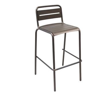 Emu 164 Star Stacking Barstool Outdoor Indoor Steel Ladder Back Seat Foot Rest