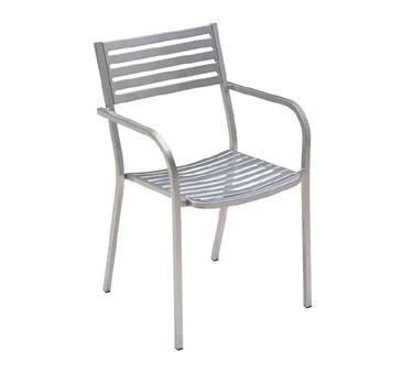 emu 268 segno stacking armchair outdoor indoor steel slat