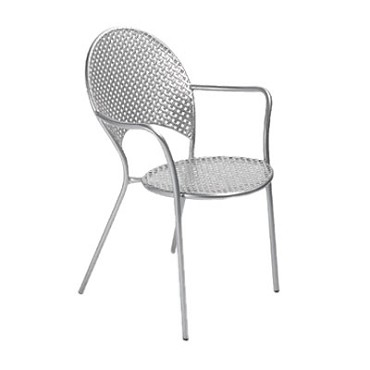 EMU 3403 - Sole Stacking Armchair, outdoor/indoor, interlace steel mesh back and seat