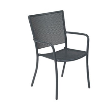 EMU 3413 - Podio Stacking Armchair, outdoor/indoor, interlace steel mesh back and seat