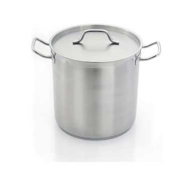 "HOM484545 Eurodib - Homichef Induction Stock Pot, 74.1 qt., 17-3/4"" dia."
