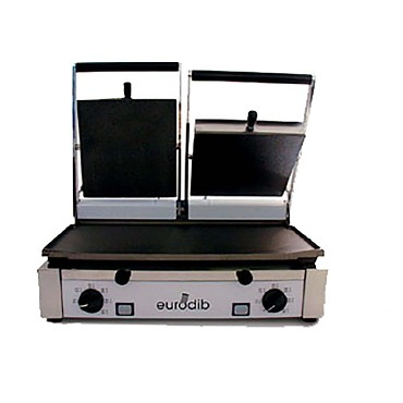 Eurodib PDM3000 - Panini Grill, double, left side bottom flat with the re