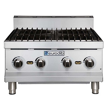 "Eurodib T-HP424 - Hotplate, countertop, gas, 24"" x 24"" cooking surface, (4) burner"