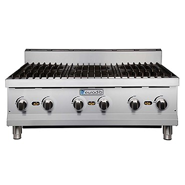 "Eurodib T-HP636 - Hotplate, countertop, gas, 36"" x 24"" cooking surface, (6) burner"