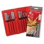 Eurodib 9083108 - Triangle Special Carving Tool Set, (8) pieces with non-slip grip