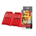 Eurodib 9084408 - Triangle Carving Loop Tool Set, (8) pieces with non-slip grip