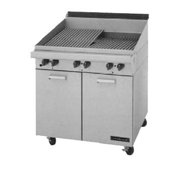 "Garland MST17BE - Charbroiler, gas, 17""W x 23""D grill area, briquettes, flat/"
