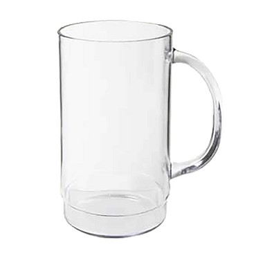 "GET 00083-1-SAN-CL - Beer Mug, 20 oz., 3"" dia. x 6"" tall, clear (Case of 2 Dozen)"