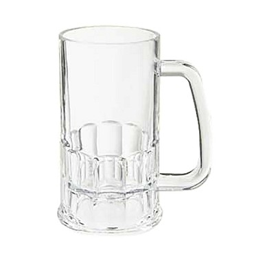 GET 00085-PC-CL - Beer Mug, 20 oz., polycarbonate, clear, (Case of 12)