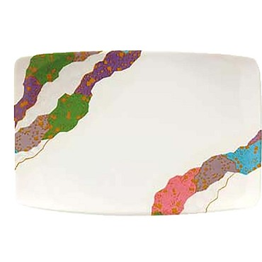 "GET 141-CO - Contemporary Plate, 7"" x 5"" , rectangular (Case of 1 Dozen)"
