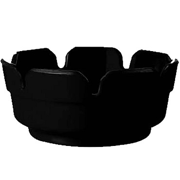GET AT-4-BK - Necessities Ashtray/Cigar Tray, 4 inch, black, (Case of 24)