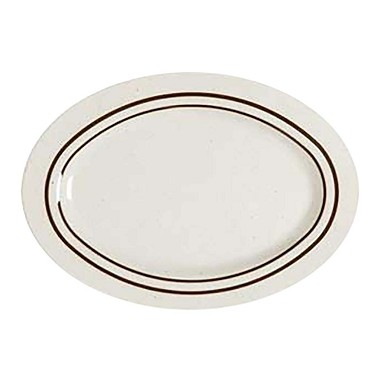 "GET M-4020-U - Ultraware Platter, 14"" x 10"" , oval (Case of 1 Dozen)"