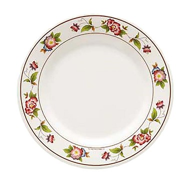 "GET M-412-TR - Tea Rose Plate, 6"" dia., melamine (Case of 1 Dozen)"