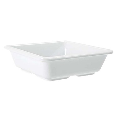 GET ML-122-W - Milano Side Dish, 6 oz., square, melamine, white, (Case of 12)