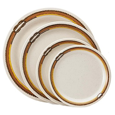 "GET NP-6-RD - Rodeo Plate, 7"" dia., narrow rim (Case of 4 Dozen)"