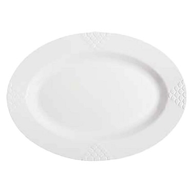 "GET OP-630-W - Sonoma Platter, 30"" x 20"" , oval, white (Case of 6 )"