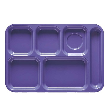 GET TR-152-T - Cafeteria Tray, 14-1/2 x 10 inch, 6 sections, right-hand, tan, (Case of 12)