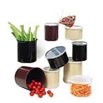 GET CR-0120-BK - 1.2 Qt Black Salad Crock With lid (Case of 1 Dozen)