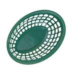 GET OB-734-G - Bread & Bun Basket, 8 x 5-1/2 inch, oval, green, (Case of 36)