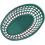 GET OB-938-G - Bread & Bun Basket, 9-1/2 x 6 inch, oval, green, (Case of 36)