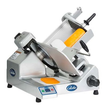 "Globe S13 - Manual Slicer, 13"" knife, gravity fed, belt driven, 115v"