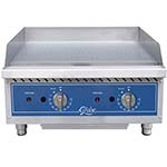 Globe GG24TG - Countertop Gas Griddle w/Thermostatic Controls, 24 in.