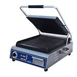 Globe GPG14D - Single Countertop Sandwich/Panini Grill, 14 x 14 in.
